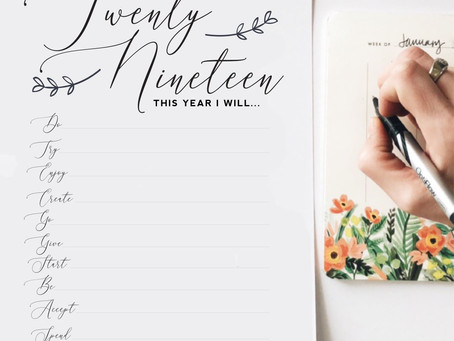 Year in Review + 2019 Intentions Printable