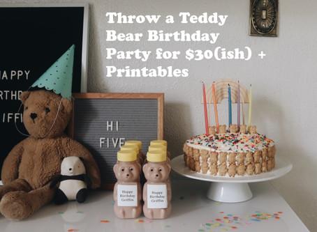 Throw a Teddy Bear Party for $30-ish + Printables