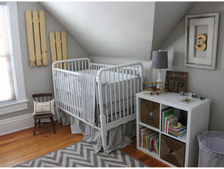 Adorable Farmhouse Nursery | Yellow and Grey