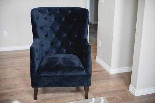 Navy Velvet Side Chair