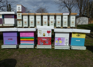 Beehive Boxes Tribute for Young Man