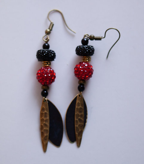 Red and Black sparkles