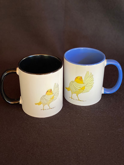 Bird with a lot to say mugs