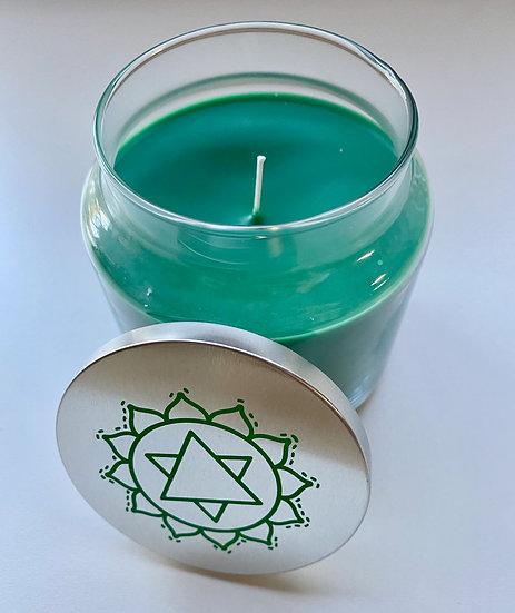 22oz Heart Chakra Candle