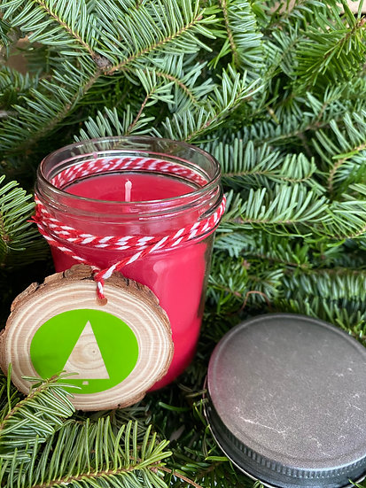 Candy Cane Aromatherapy scented Candle