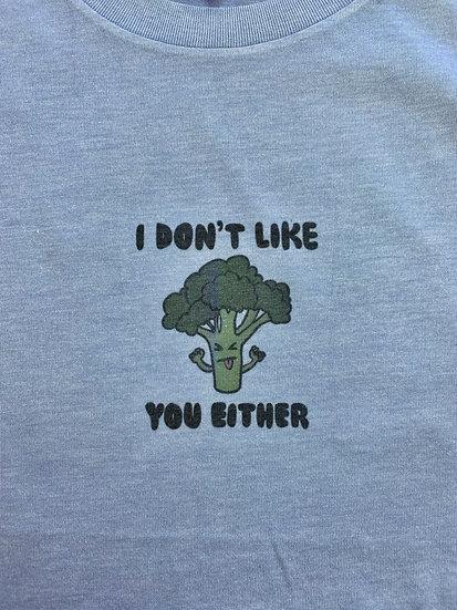 Angry Broccoli Unisex Crew Neck T