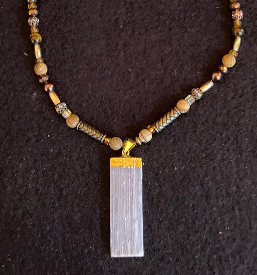 "14"" Cloud Crystal Necklace"
