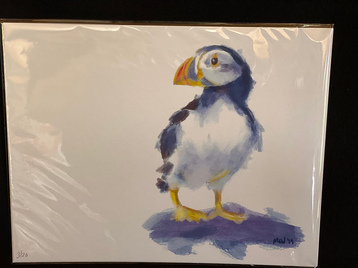 Puffin Print - Limited Edition - Numbered and Signed