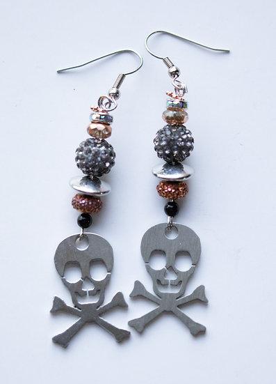 Sterling Silver Skull and Crossbones