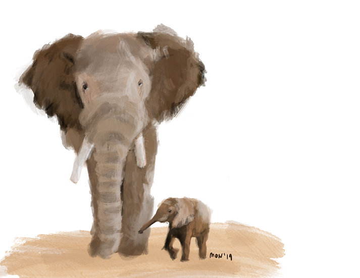 16x16 Limited edition signed Elephants - Limited to 10