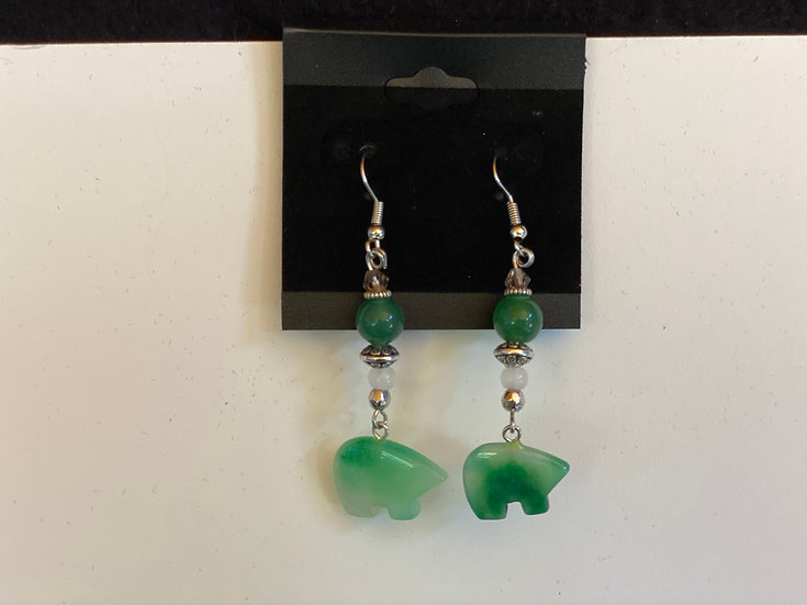 Aventurine Bears Dangle