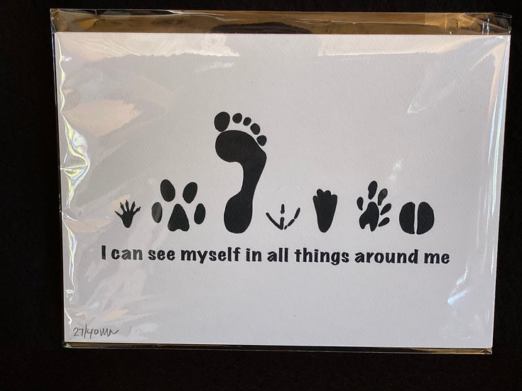 All footprints - Original Design and limited edition print