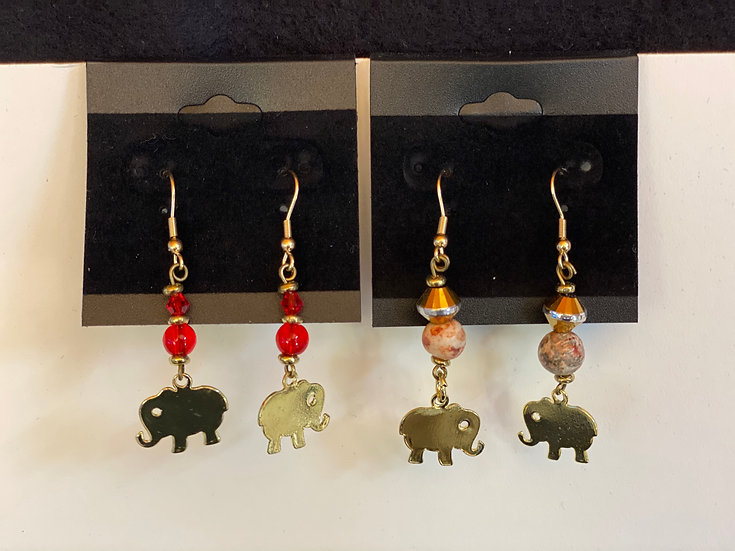 Little gold elephants