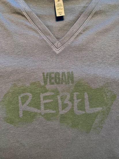 Women's Vegan Rebel T in Heather Grey