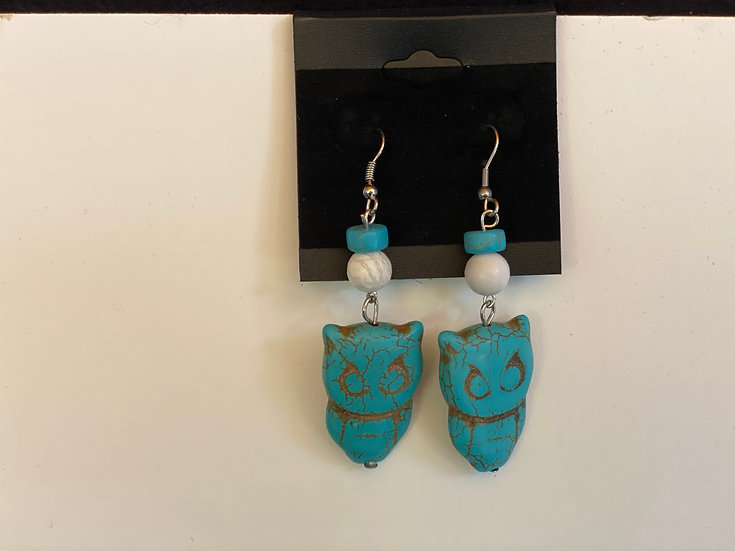Owls in Turquoise