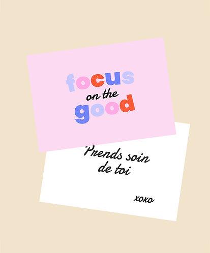 Carte Focus on the Good