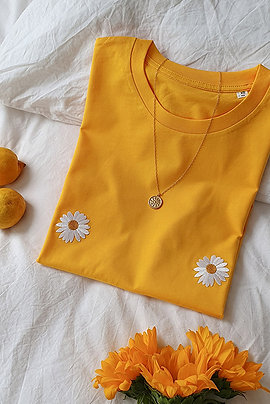 Titshirt Marguerite Yellow