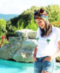 tee-shirt tisup motif, imprimé, poitrine, seins palmier