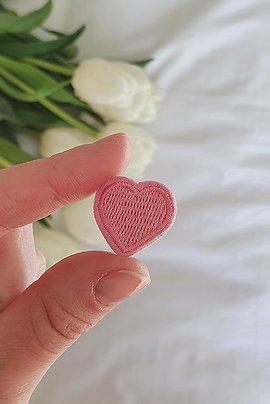 Patch Coeur Rose