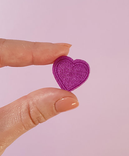 Patch Coeur Violet