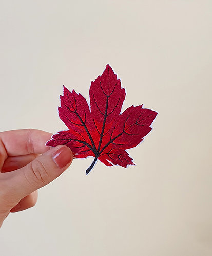 Patch Feuille d'érable rouge