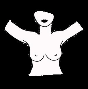 etape un de l'autopalpation contre le cancer du sein, titsup