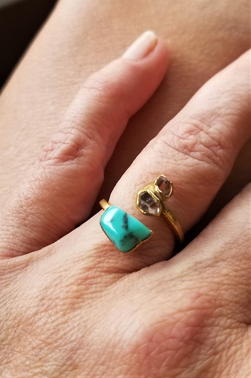 C&R Designs Gold Plated Turquoise Ring