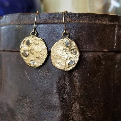 Emilie Shapiro Brass Crescent Earrings