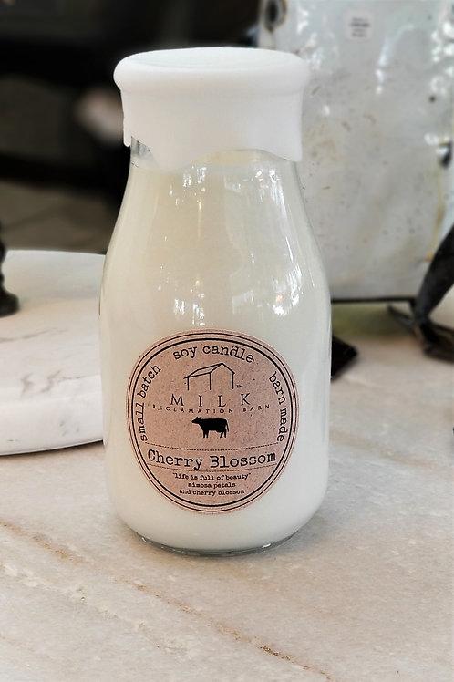 Milk Reclamation Barn Cherry Blossom Milk Bottle Candle