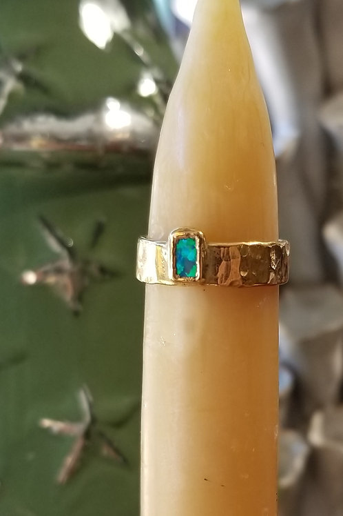 C & R Designs Opal Gold Plated Ring