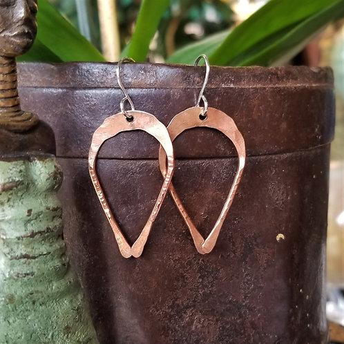 Boo Bug Jewelry Copper Horseshoe Earrings