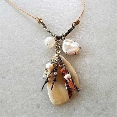 ChanLuu Braided Charm Necklace