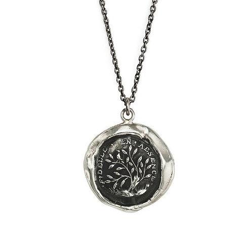 Pyrrha Faithful Sterling Silver Talisman Necklace