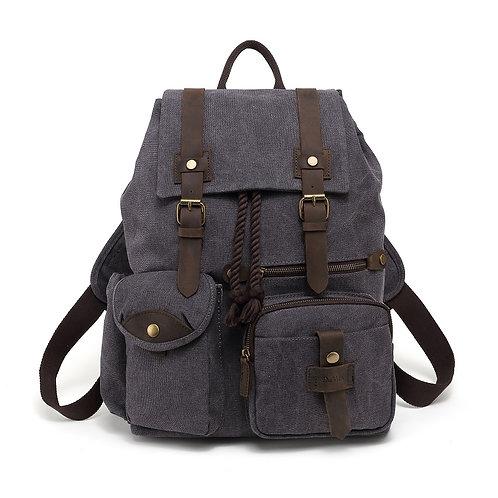 DaVan Grey Canvas Backpack