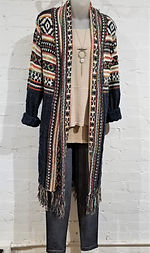 Sweater, Mrena Leggings, Texture and Tarnish Necklace