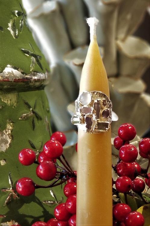 C & R Designs Multi Stone Fine Silver Ring
