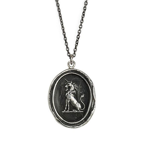 Pyrrha Power To Heal Sterling Silver Talisman Necklace