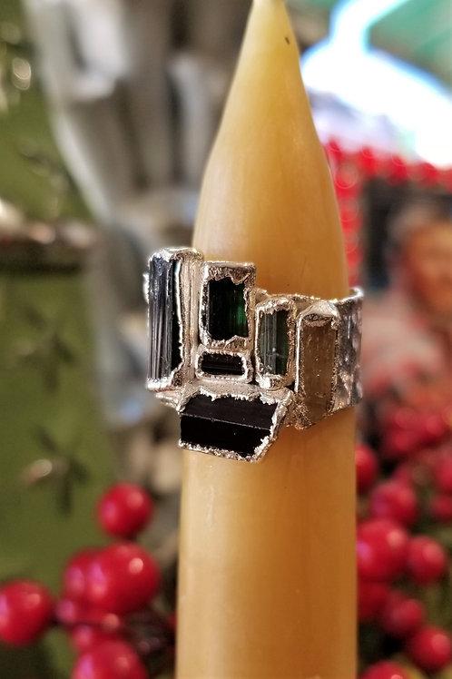 C & R Tourmaline Fine Silver Ring