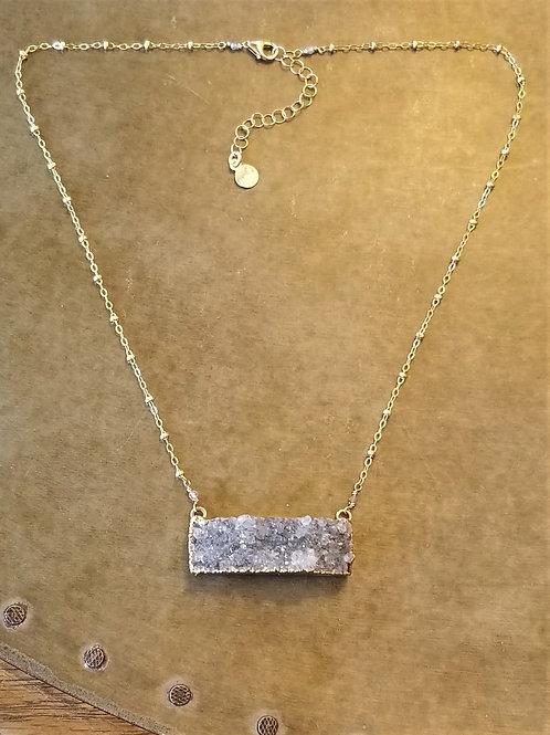 Mickey Lynn Drusy Bar Necklace
