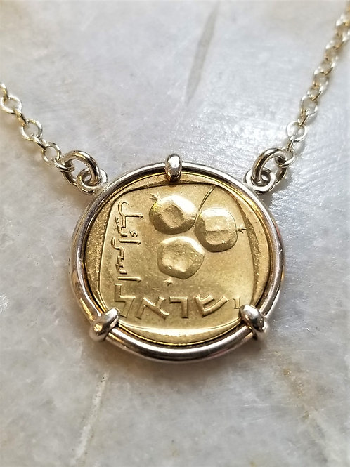 Karen Wright Israel Coin Necklace
