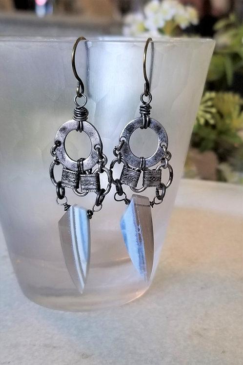 Joy of Wings Boulder Opal Earrings