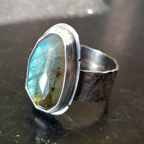 Feral Blue Labradorite Ring
