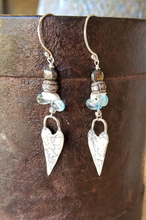 Luna Mar Sterling Heart Earrings