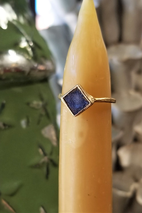 C & R Designs Lapis Gold Plated Ring