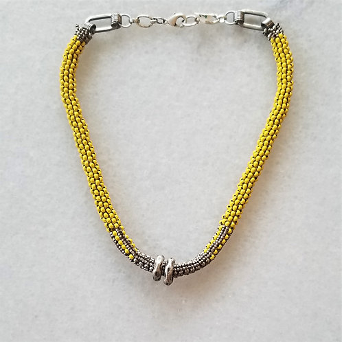 Joy of Wings Yellow Tribal Necklace