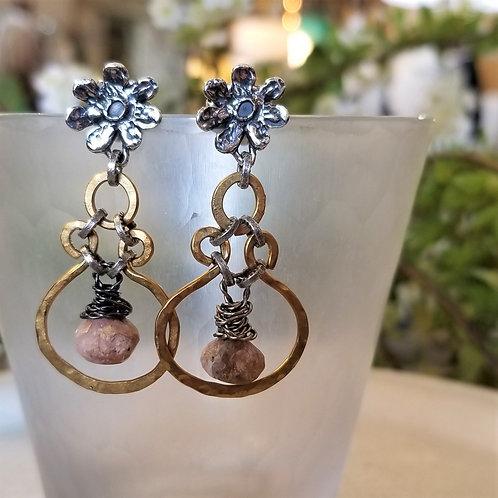 Joy of Wings Pink Opal Earrings