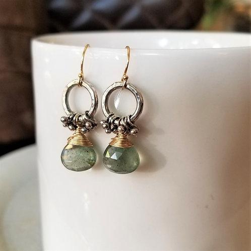 Austin Titus Studio Moss Aquamarine Earrings