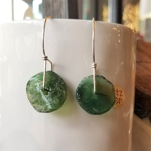 ObscurO Jewelry Roman Glass Disc Earrings