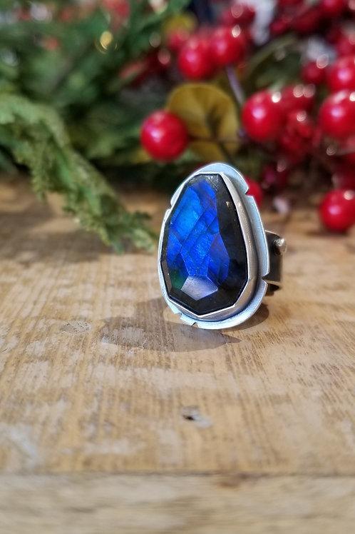 Feral Blue Sterling Labradorite Ring