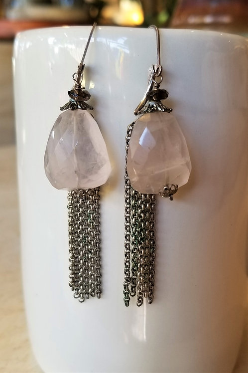 Luna Mar Rose Quartz Earrings